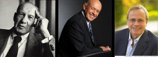 Peter Drucker, Stephen Covey, David Allen Productividad y eficiencia del trabajador del conocimiento
